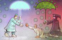 کارتون های روز: کرونا، بازگشت پرستاران به آغوش خانواده، نجات کرونایی ها و تنبیه چین