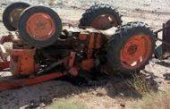 واژگونی تراکتور در عجب شیر راننده اش را به کام مرگ کشید/ پرواز بالگرد اورژانس