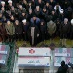 دعای کم نظیر و اشکبار رهبر انقلاب در نماز بر پیکر شهید سلیمانی + تصاویر