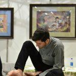 هنرنمایی نگارگر آذربایجانی در نمایشگاه صنایع دستی تبریز