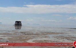 چنگال خشکی بر گلوی نگین فیروزه ای: دریاچه ارومیه ۸۸ کیلومتر دیگر کوچک شد